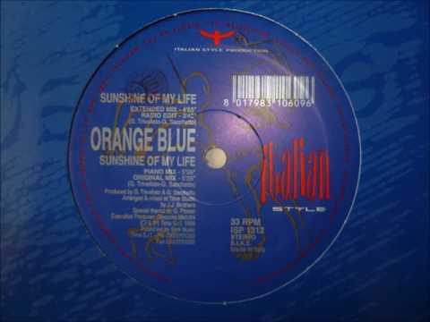 Orange blue sunshine of my life