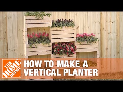 How To Make Vertical Planter