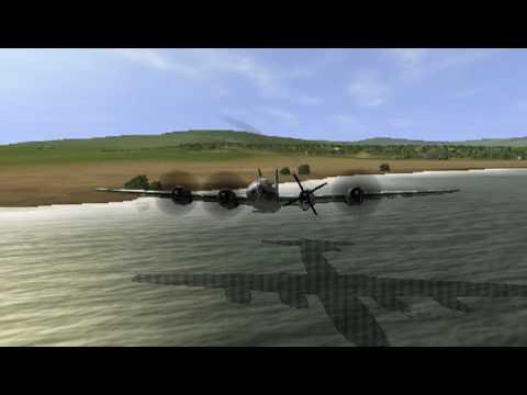 И-153 против четверки В-29 в игре «Ил-2 Штурмовик».