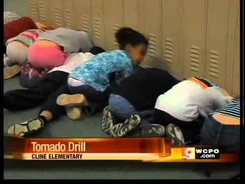 N Ky Students Prepare For Tornado Drill Youtube