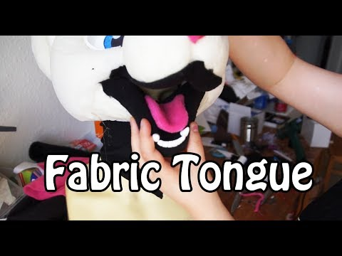 //Tutorial #27// Fabric Tongue for Fursuit Heads