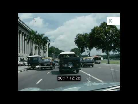Driving POVs, 1970s Singapore, Home Movies from 16mm