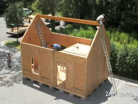 Structural insulated panels youtube for Building a house with sip panels