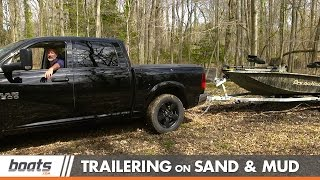 Trailering, Launching, and Retrieving a Boat on Sand and Mud