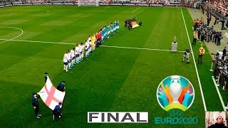 Pes 2020   england vs germany final euro full match all goals hd gameplay pc
