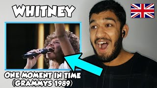 🇬🇧 BRITISH Reacts To Whitney Houston - One Moment In Time - (Live at Grammy, 1989) REACTION