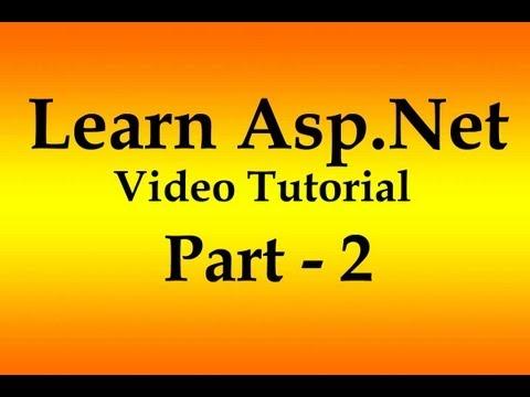 Asp.Net Tutorial HTML Controls in Hindi -  Video Part 2