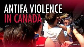 Toronto Police & Media Party permit Antifa violence
