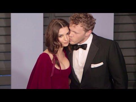 Emily Ratajkowski and husband Sebastian Bear McClard on the Red Carpet for the 2018 Vanity Fair Osca