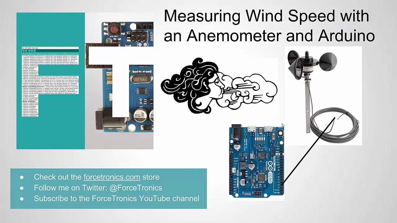Measuring Wind Speed with an Anemometer and Arduino - YouTube