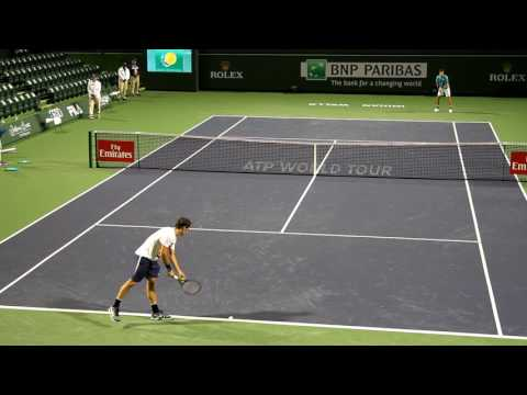 Roger Federer Practice 2017 BNP Paribas Open Indian Wells