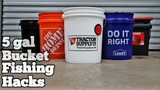 17 Bucket Hacks  ( for Fishing )