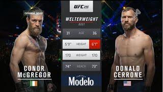 UFC БОЙ Конор Макгрегор vs Дональд Серроне (com.vs com.)