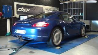 Reprogrammation moteur Porsche CaymanS 295cv @ 317cv dyno digiservices