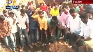TNSF Break 1,116 coconuts in Tirumala on Nara Lokesh Birthday