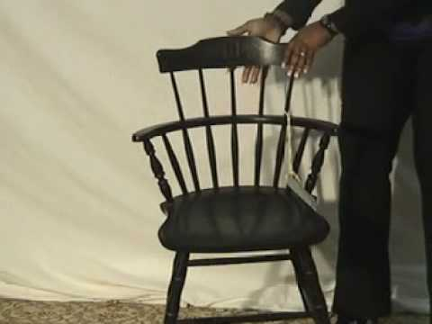 Ordinaire Nichols U0026 Stone Black Windsor Chair   YouTube