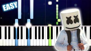 Marshmello - Alone - EASY Piano Tutorial by PlutaX