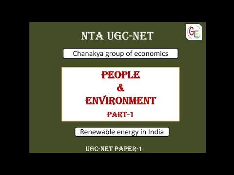 People and environment  - Renewable energy in India for UGC-NET paper-1