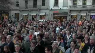 "Dj Ötzi & The Bellamy Brothers ""Like A Star"" Black Coffee Linedance Flash Mob Zürich 23.03.12."