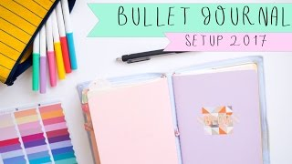 Bullet Journal  Travelers Notebook Setup 2017  How   Plan Bullet Journal in a Travelers Notebook