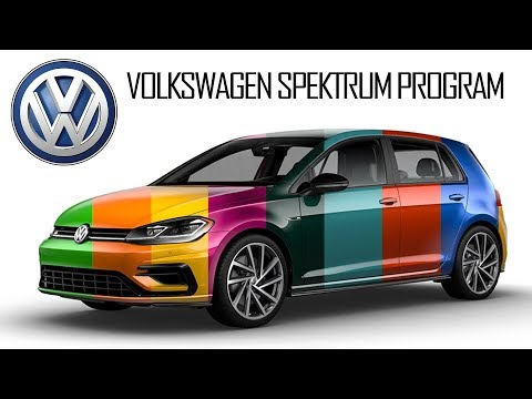 Volkswagen Spektrum Program color options for the 2019 Volkswagen Golf R (USA)