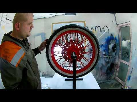 """Балансировка мото колес. Мотосервис """"Телега""""."""