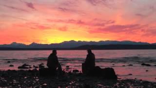 Sunset with my friend George - Edmonds, Washington 03/04/13