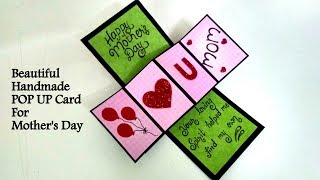 Beautiful Handmade POP UP CARD for Mother's Day | Tutorial