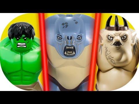 LEGO Hulk VS Cave Troll VS Goblin King LEGO Marvel LOTR Hobbit Comparison Review