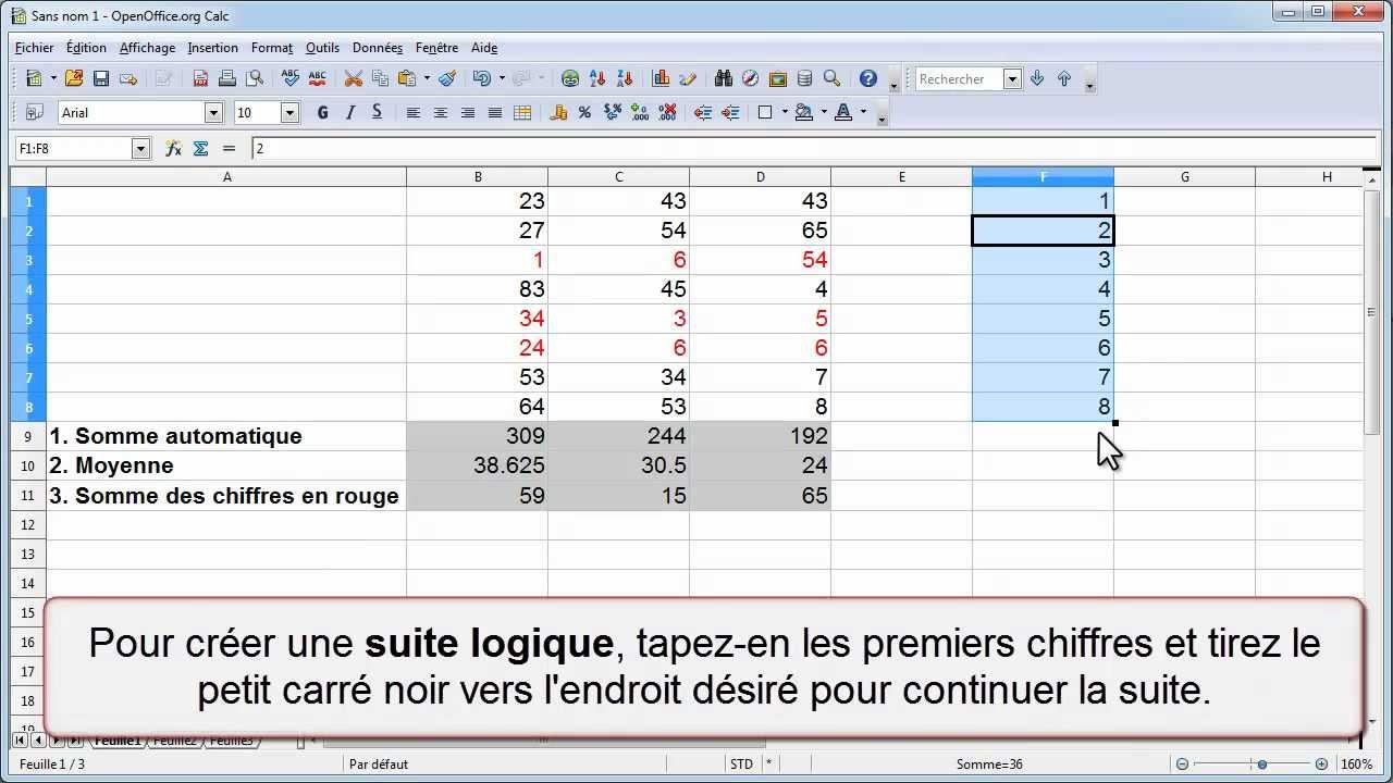 calc copier une fonction et cr233er une suite logique youtube