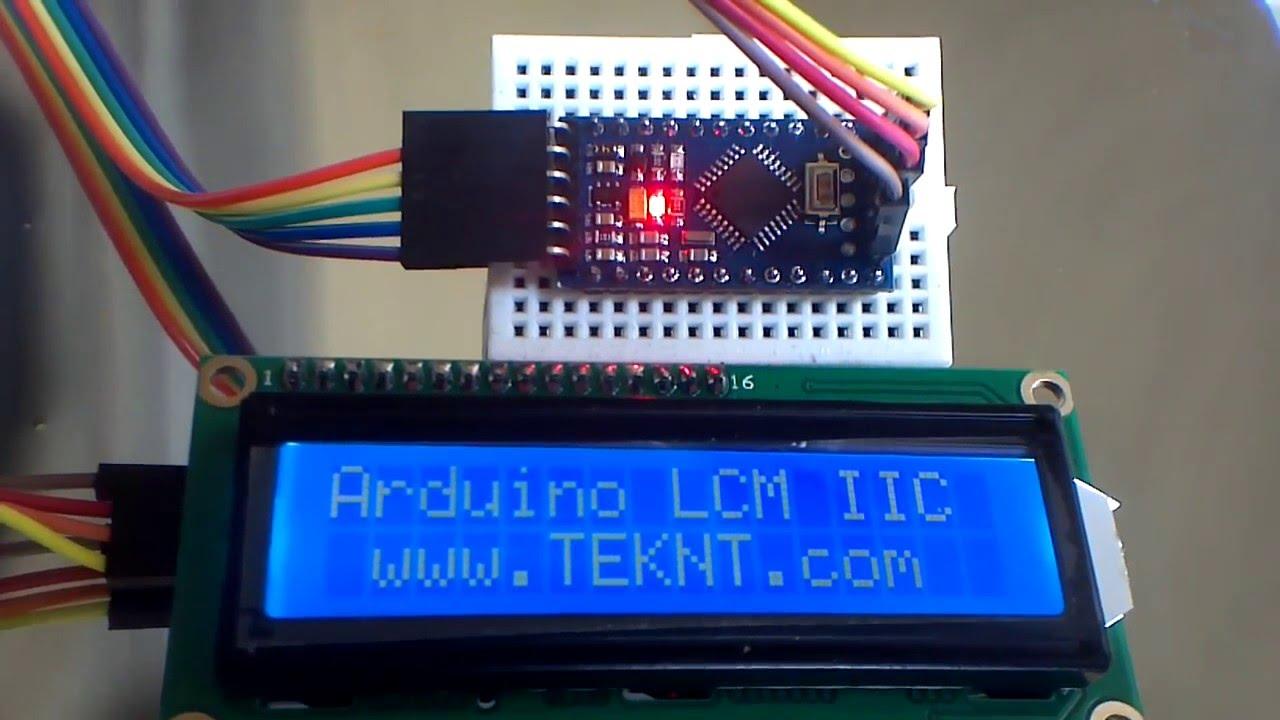 Arduino mini pro i c display breadboard