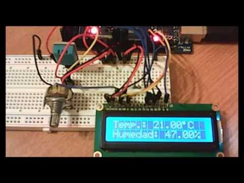 Dht11 Arduino Y Lcd Youtube