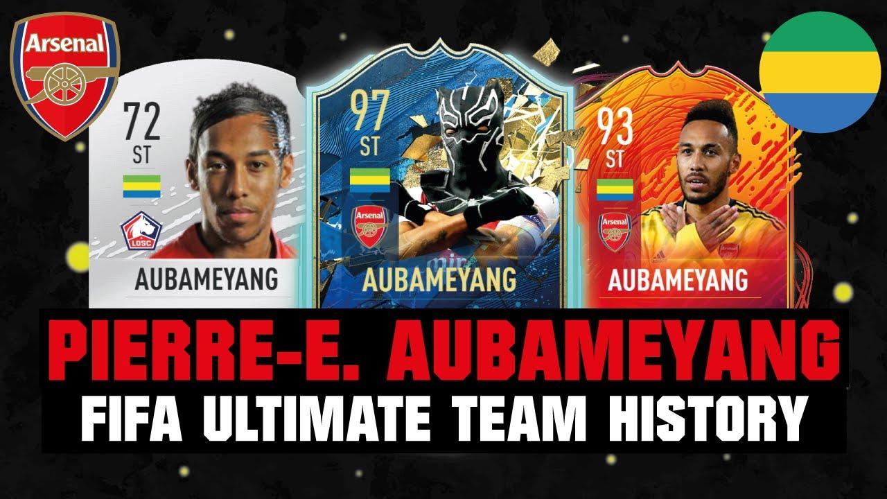 PIERRE-EMERICK AUBAMEYANG | FIFA ULTIMATE TEAM HISTORY 😱🔥| FIFA 10 - FIFA 20