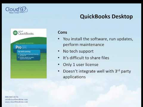 QuickBooks Desktop in the Cloud VS QuickBooks Online 2015 04 16