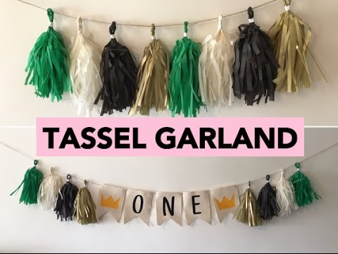 DIY TASSEL GARLAND/ HIGH CHAIR BANNER