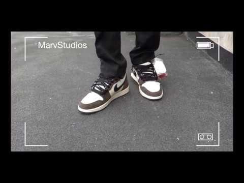 wyprzedaż w sklepie wyprzedażowym odebrane buty na codzień Travis Scott x Air Jordan 1 On Feet 4K