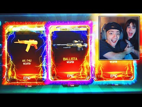 MY SISTER UNLOCKS A NEW FREE DLC WEAPON!! *IMPOSSIBLE* BEST BLACK OPS 3 SUPPLY DROP OPENING! (BO3)