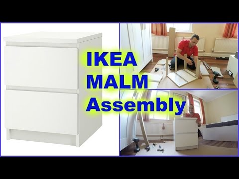 ikea-malm-chest-of-2drawers-nightstand-assembly