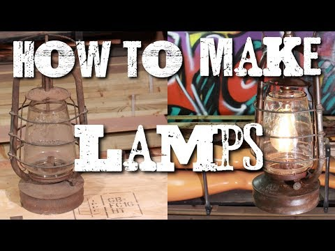 How to turn anything into a lamp - oil lamp upcycle!