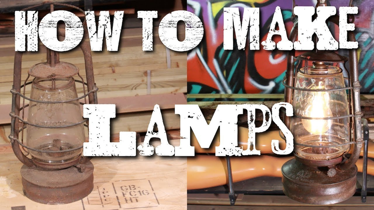 How To Turn Anything Into A Lamp Oil Lamp Upcycle Youtube