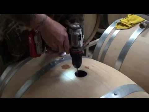 10.28.16 Dablon Vineyards 2016 Chardonnay barrel stirring