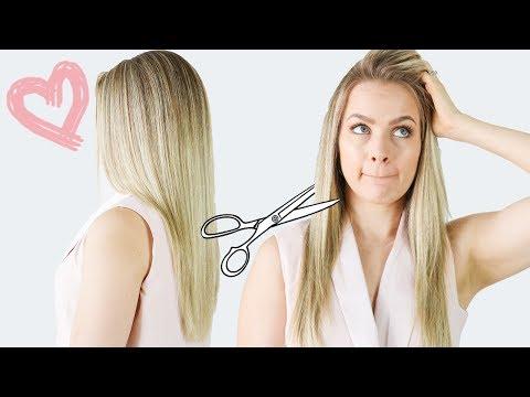 How I Cut My Hair (My long layer haircut) - KayleyMelissa