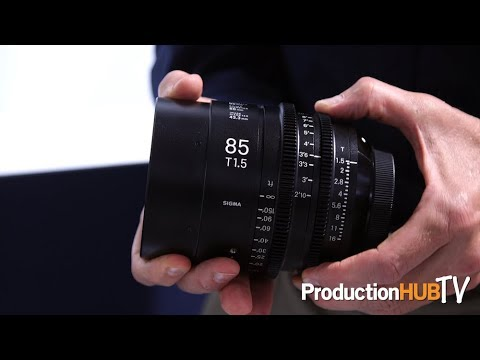 Sigma Showcases Their Line of Super35 & -Frame Cine Lenses at IBC