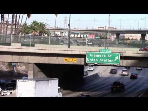 Santa Ana Freeway Exit 2A in Los Angeles 03/May/2014 サンタ・アナ・フリーウェイ、ロサンゼルス
