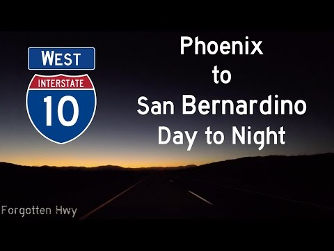 I-10 West - Full Long Distance Ride Along - Phoenix, AZ to San Bernardino/Ontario, CA