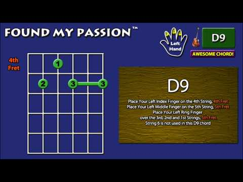 Awesome Sounding Guitar Chord: D9 [X 5 4 5 5 5]