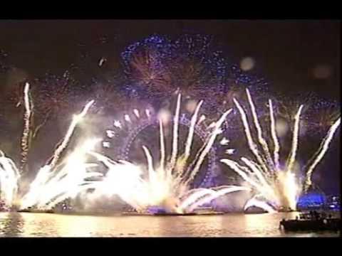 Download New year london fireworks 2005 - 2006 - London eye Display