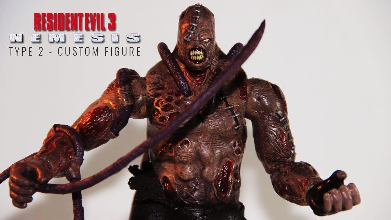 Resident Evil 3 Nemesis Custom Action Figure Youtube