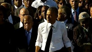 "Raw: Obama, Bush Mark 1965 ""Bloody Sunday"" March"