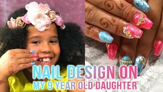 FULL DESIGN ON MY 9 YEAR OLD DAUGHTER CASSIDY